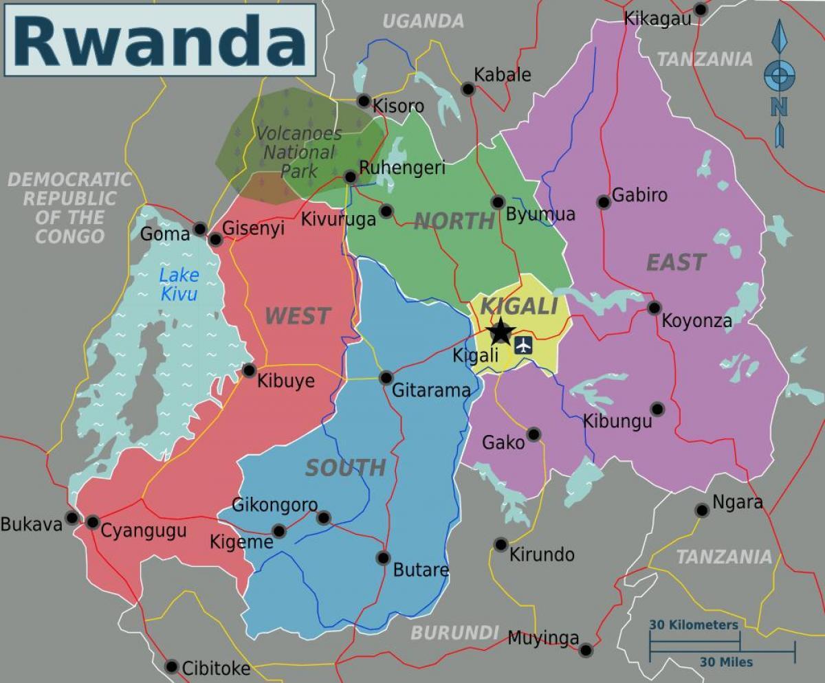 Kigali Rwanda Map Map Of Kigali Rwanda Eastern Africa Africa