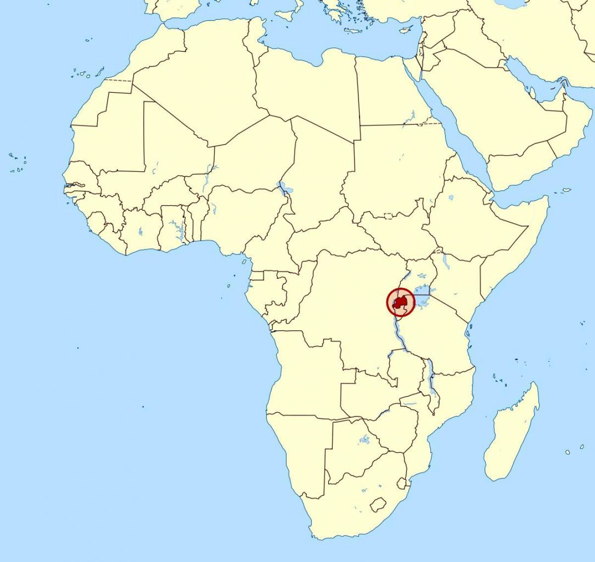 Rwanda africa map   Map of Rwanda africa (Eastern Africa   Africa)