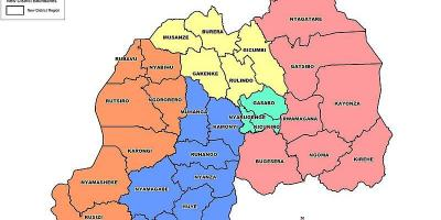 Map of Rwanda map provinces